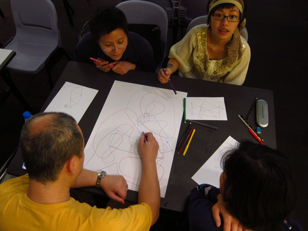 Conditional Drawing workshop in Hong Kong