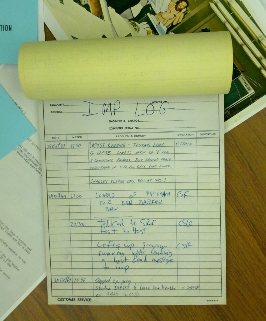 Reproduction of the original project logbook.